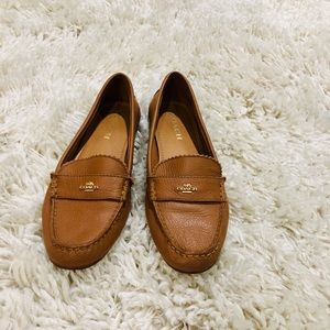 COACH leather loafers size 8.5 calendar color